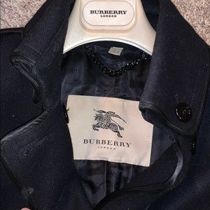 Burberry Wool Peacoat Black/Navy Size 4